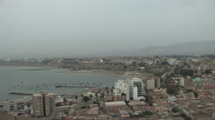 Stock Video Footage of Beautiful Skyline of Lima, Peru at Dusk