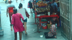 Beggars in Thailand Stock Footage