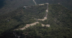 4K video of the stunning Great Wall of China Stock Footage