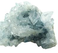 aquamarine geode geological crystals - stock photo