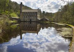 Gibson Mill in Hardcastle Crags nature park, Stock Photos
