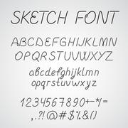 Handwritten Font - stock illustration
