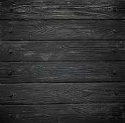 Black wood texture. background old panels - stock photo