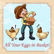 English idiom - stock illustration