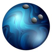 Bowling ball - stock illustration