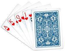 Poker cards Stock Illustration