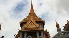 Temple of Wat Traimit, Golden Buddha , bangkok, thailand Stock Footage