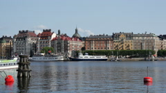 Classic builings in Östermalm Stockholm Sweden Stock Footage