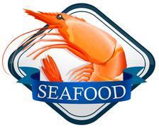 Shrimp - stock illustration