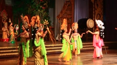 Folk artists performing culture and traditional dance , Pattaya, Thailand - stock footage