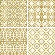 Vector seamless tiling patterns - stock illustration
