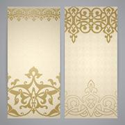 Flayers with arabesque decor Stock Illustration
