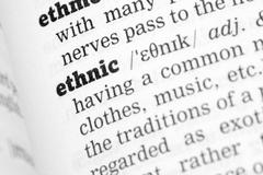 Ethnic Dictionary Definition - stock photo