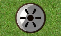Golf Hole And Green Stock Illustration