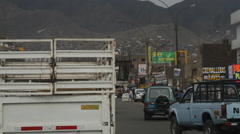 Driving down busy roads in Lima, Peru - stock footage