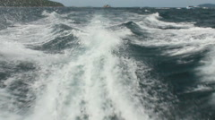 Behind speedboat Stock Footage