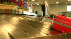 Baggage claim area at the airport Stock Footage