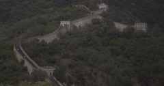 4K video of a section of the Great Wall of China Stock Footage