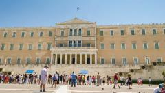 Parliament In Athens Greece Time Lapse Stock Footage