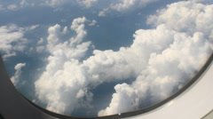 scene viewed from the plane - stock footage