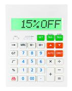 Calculator with 15OFF Stock Photos