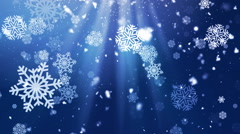Holiday Snowflake Dark 3– Loopable Background Stock Footage