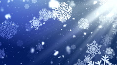 Holiday Snowflake Dark 2– Loopable Background Stock Footage