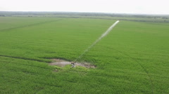 Farm irrigation system and water pump Stock Footage
