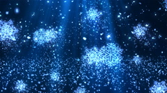 Christmas SnowFlakes Glitters 2– Loopable Background - stock footage