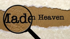 Made in heaven Stock Footage