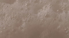 Closeup of soap foam Stock Footage