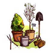 Garden Tools Set Piirros