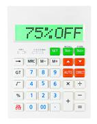 Calculator with 75OFF Stock Photos