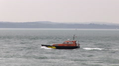 Pilot Boat Moving on Water in The Solent in Hampshire Stock Footage