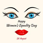 Happy Womens Equality Day - stock illustration