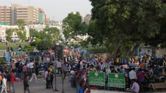 Street market on Connaught Place,New Delhi,India Stock Footage