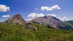 Time lapse of an Alpine panorama with mountains and clouds Stock Footage