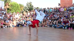 A b-girl performing Stock Footage