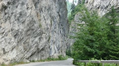 Vertical view. Trigrad Gorge. Rhodope Mountains of Bulgaria. Stock Footage
