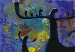 Painting acrylic Stock Illustration