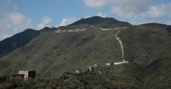 4K video of the incredible Great Wall of China Stock Footage