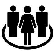 Society icon Stock Illustration