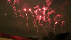 Fireworks in Brussels, 2015 Stock Footage