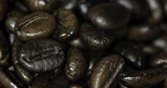 Brown coffee beans, close-up of coffee beans for background and textures Stock Photos