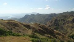 Mountain view panorama Stock Footage