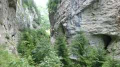 Trigrad Gorge. Rhodope Mountains of Bulgaria. Stock Footage