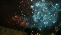 Stock Video Footage of Fireworks in Brussels, 2015