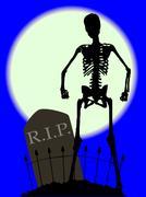 Cemetery Bones Stock Illustration