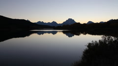 Grand Teton National Park in autumn - Oxbow Bend Sunset Stock Footage