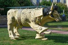 Cow Elvis - stock photo